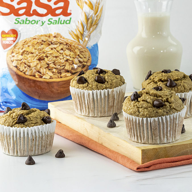 Muffins de avena y banano